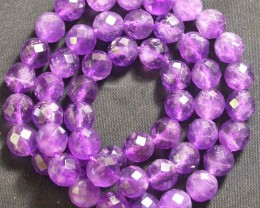 AMETHST  BALL FACETED  BEADS  8 MM 173.85 CTS [MX8506]