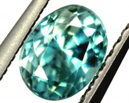 BLUE ZIRCON FACETED STONE 0.85 CTS PG-1128