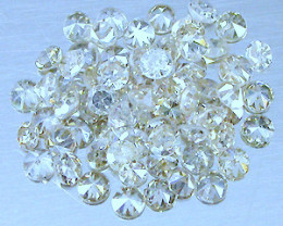 NATURAL -TINTED-WHITE DIAMOND-2MMSIZE-2CTWLOT,NR,LOWEST DEAL