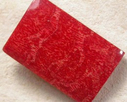RED  SPONGE CORAL  INDONESIA 14.05 CTS [MX8751]