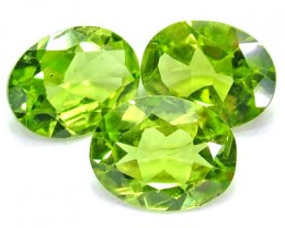 PERIDOT FACETED STONE (3PCS) 4.85 CTS PG-1021
