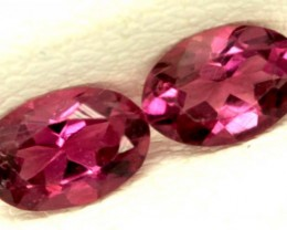 TOURMALINE FACETED STONE (2PCS) 0.70 CTS   PG-1116