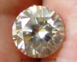 CERTIFIED 0.65ct 5.4mm Untreated Light Brown Natural DIAMOND