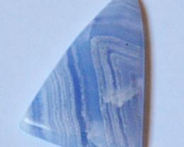 AAA Designer cut triangular Blue Lace Agate cabochon 18.56ct
