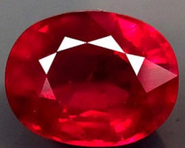 3.65 Carat Fiery Vs Cherry Ruby - Amazing