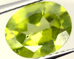 PERIDOT FACETED STONE 1.65 CTS PG-925