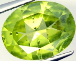 No reserve 1.45 cts PERIDOT FACETED STONE  PG-924 - preciousgems