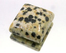 DALMATION JASPER 18.50 CARAT WEIGHT RECTANGLE CUT CABOCHON