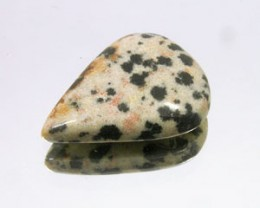 DALMATION JASPER 10.30 CARAT WEIGHT PEAR CUT CABOCHON GEM NR