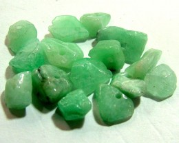 EMERALD BEAD UNTREATED DRILLED 26 PCS 40 CTS  NP-1337