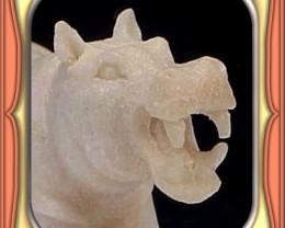 CARVING - HANDCARVED SHED ALASKIN MOOSE ANTLER HIPPO