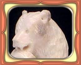 CARVING - HANDCARVED SHED ALASKIN MOOSE ANTLER BEAR