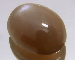 BROWN SUGAR MOONSTONE 6.35 CARAT WEIGHT OVAL CUT CABOCHON NR
