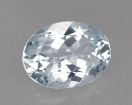 AQUAMARINE .95 CARAT WEIGHT OVAL CUT GEMSTONE BEAUTIFUL NR