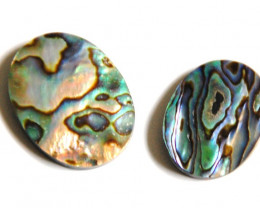 Two Large Abalone Doublets 60ct