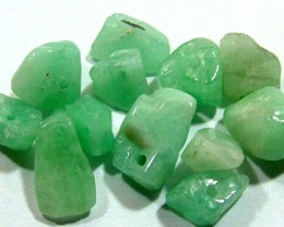 EMERALD BEAD UNTREATED DRILLED 23 PCS 40 CTS  NP-1557