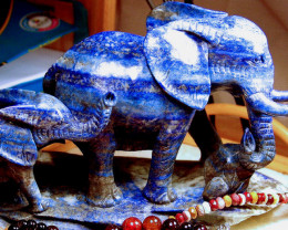 255mm by 105 by 145 Lapis Lazuli Elephant, Child - PR China