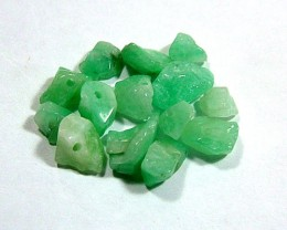EMERALD BEAD UNTREATED DRILLED 24 PCS 40CTS  NP-1548