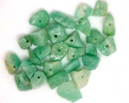 EMERALD BEAD UNTREATED DRILLED 40.2 CTS  NP-1311