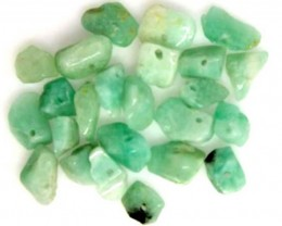 EMERALD BEAD UNTREATED DRILLED 23 PCS 40 CTS  NP-1549