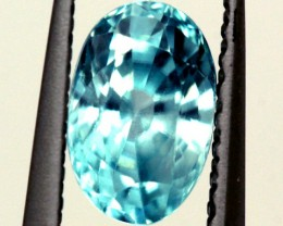 BLUE ZIRCON FACETED STONE 1 CTS  PG-1237