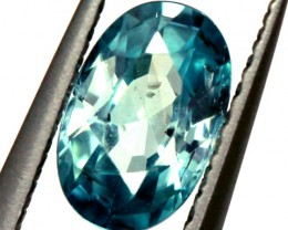 BLUE ZIRCON FACETED STONE 0.85 CTS  PG-1242