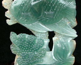 China Fish - Superb, Elegant Flourite Carving