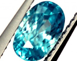 BLUE ZIRCON FACETED STONE 1.55 CTS  PG-1217