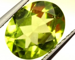 PERIDOT FACETED STONE 1.60 CTS PG-829