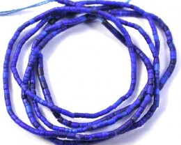 VERY FINE  DELICATE LAPIS BEAD STRAND 4.40 CTS [MX9055 REL]