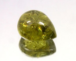CHRYSOBERYL 2.90 CARAT WEIGHT PEAR SHAPED CABOCHON GEMSTONE