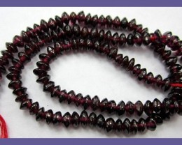 """SMOOTH BRIGHT & SHINEY 4.50-5.00MM GARNET BUTTON BEADS"""
