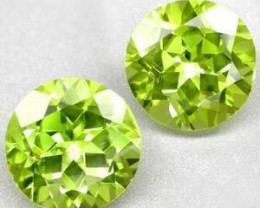 SUPERBE PAIR OF NATURAL PERIDOTS 7MM