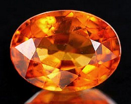 Fanta Orange Spessartite .91 Carats 7mm by 5 - Fiery, Flashy