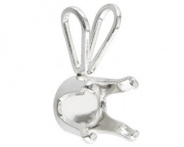 STERLING SILVER 925 8 MM ROUND PENDANT CASTING 4 PRONG NR
