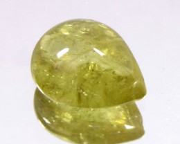 CHRYSOBERYL 2.40 CARAT WEIGHT PEAR SHAPED CABOCHON GEMSTONE