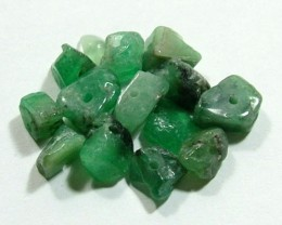 EMERALD BEAD UNTREATED DRILLED 27 PCS 40 CTS  NP-1560