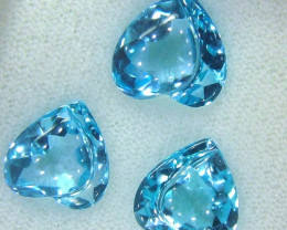 14.93  CTS 3 PCS  COLLECTOR TOPAZ VVS1 SPECIAL CARVED  SG-2239 GC