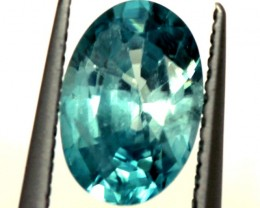 BLUE ZIRCON FACETED STONE1.25 CTS  PG-1247
