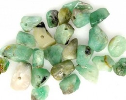 EMERALD BEAD UNTREATED DRILLED 25 pcs 40 CTS   NP-1551