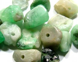 EMERALD BEAD UNTREATED DRILLED 40.1  CTS  NP-1322