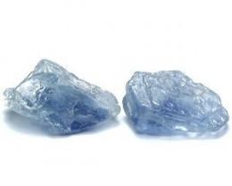 3.15ctw Stunning Blue Genuine Tanzanian Sapphire Rough Lot
