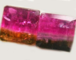 TOURMALINE  PAIR -RICH DARK BI  COLOUR 2.45 CTS [S5601]