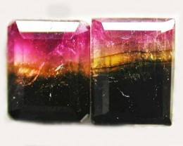 TOURMALINE  PAIR -RICH DARK BI  COLOUR 2.25 CTS [S5608]