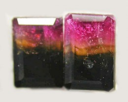 TOURMALINE  PAIR -RICH DARK BI  COLOUR 2.25 CTS [S5611]