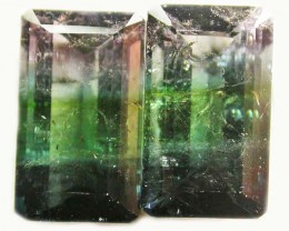 Bi Colour Tourmaline Pairs