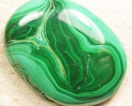 LARGE MALACHITE  STONE -CONGO 84.00 CTS [MX9244]