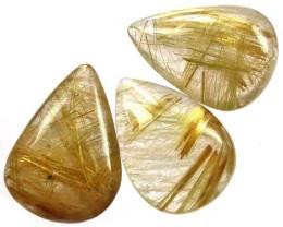 QUARTZ RUTILATED GOLDEN  NEEDLES PARCEL - 45.70 CTS [ST7034]4
