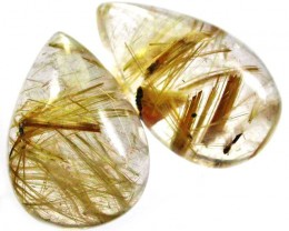Rutilated Quartz Pairs