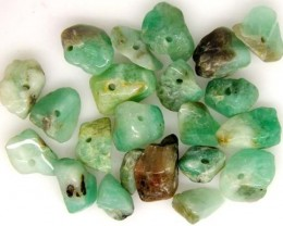 EMERALD BEAD UNTREATED DRILLED 22 PCS 40 CTS   NP-1324